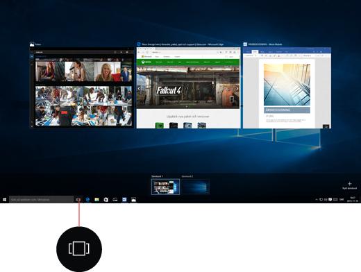 Skärmbild på virtuella skrivbord