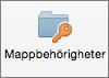 Knappen Mappbehörigheter i Outlook 2016 för Mac