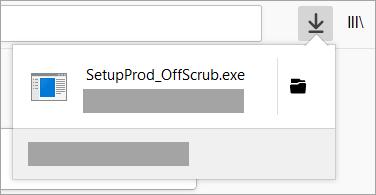 Hitta och öppna nedladdningsfilen för supportassistenten i webbläsaren Chrome