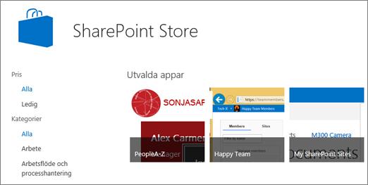 Appar i SharePoint Store