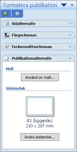 Formatera publikation