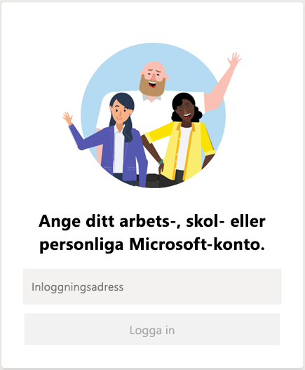 Logga in på Microsoft Teams