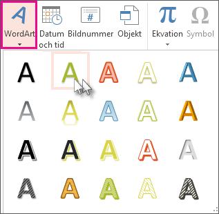 WordArt-format