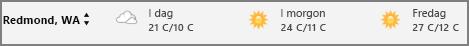 Väder i kalendern