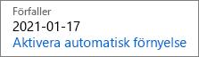 En utgående prenumeration ser ut såhär när automatisk förnyelse är inaktiverat.