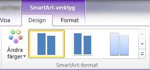 Gruppen SmartArt-format på fliken Design under SmartArt-verktyg