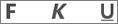 Ikonerna Fetstil, Understrykning och Kursiv stil