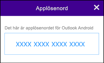 Anteckna applösenordet