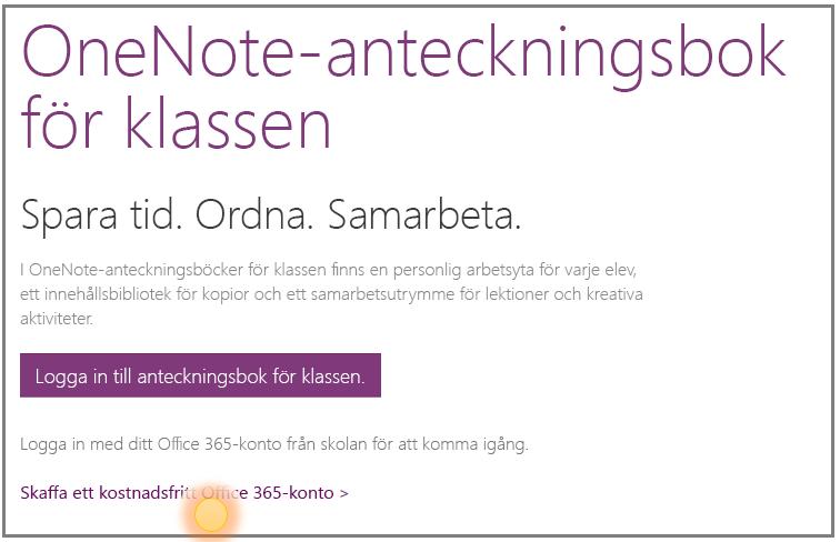 Skärmbild av hur du skaffar ett kostnadsfritt Office 365-konto.