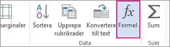 Knappen Formel för tabellverktyg