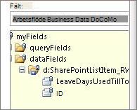 Välj datafältslista