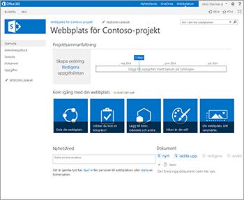 Projektwebbplatsmall
