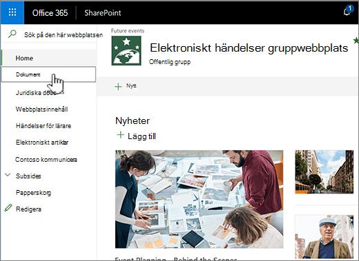 Team-dokumentbibliotek