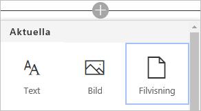Kommandot Bädda in ett Visio-diagram i en SharePoint-sida