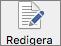 Knappen Redigera i Inställningar för Word