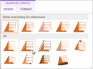 Tillämpa ett SmartArt-format