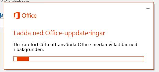 Dialog rutan Hämta Office-uppdateringar