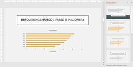 PowerPoint Designer föreslår designidéer för diagram