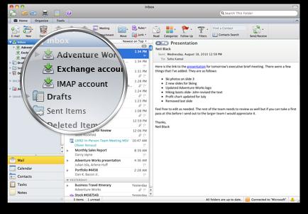 Outlook med flera konton i en och samma inkorg
