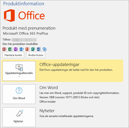 Visar Backstage-vyn i Office 365