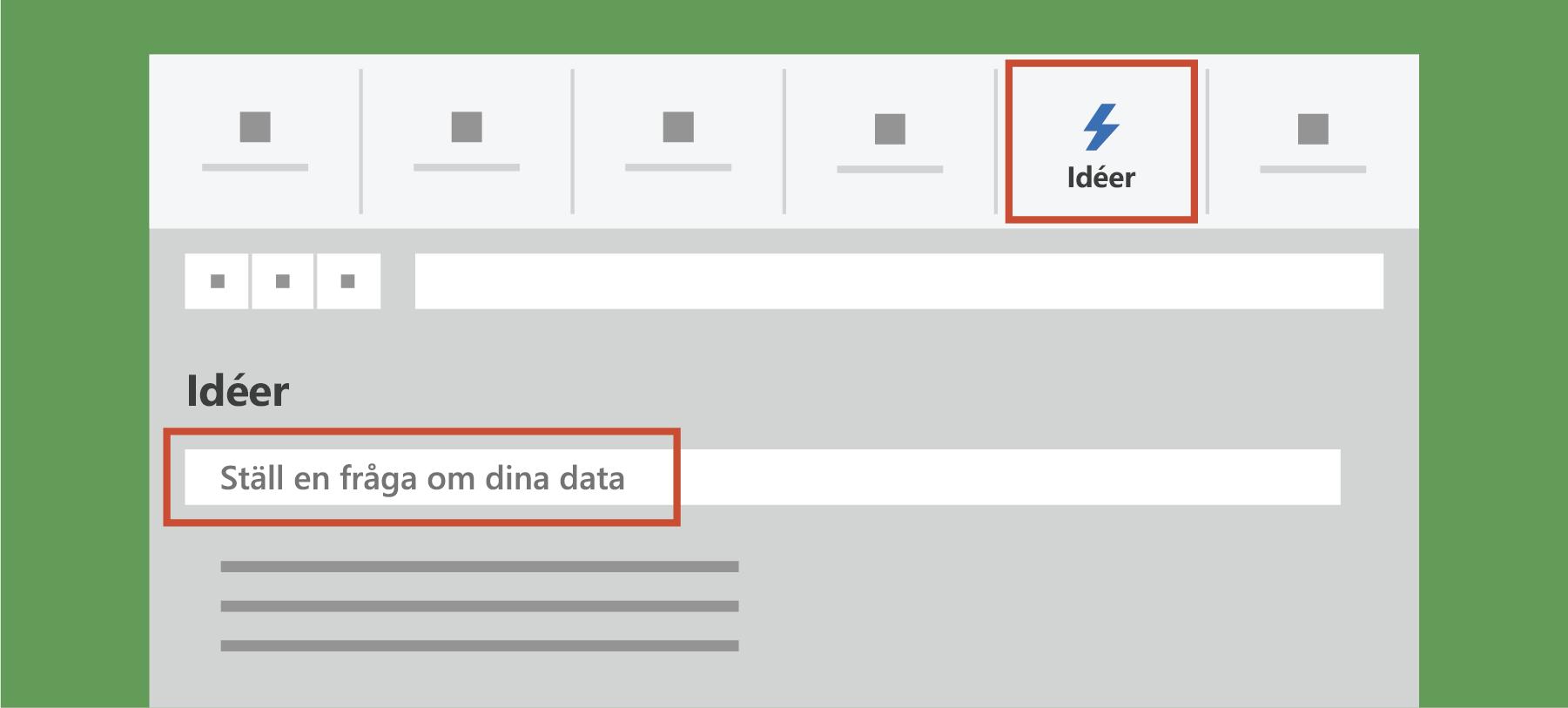 Visar Analysera data i Excel