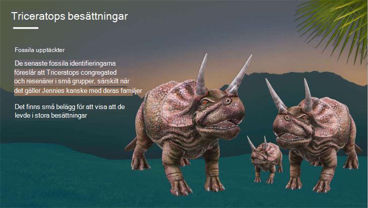 Skärmbild av omslag till en rapport om triceratops
