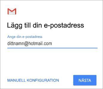 Lägg till din e-postadress