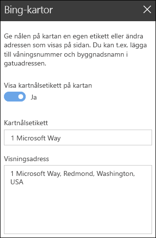 Bing Maps webbdel verktygslådan