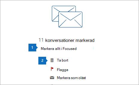 En skärmbild av alternativet att markera all text