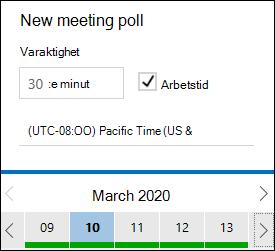 FindTime mötets längd