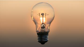 En glödlampa