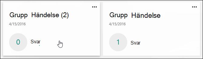 Nytt formulär skapas genom att kopiera ett befintligt formulär