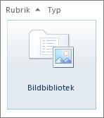 Bildbibliotek-panelen