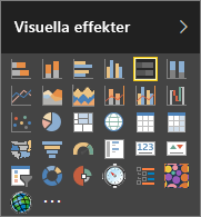 Välj liggande stapeldiagram i Visualiseringar i Power BI