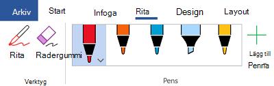 Pennan tecknings verktyg i Office 365