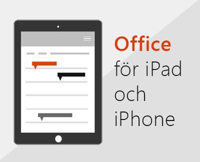 Klicka för att konfigurera Office-appar i iOS