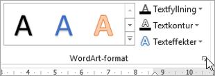 Välja dialogruteikonen WordArt-format