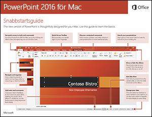 Snabbstartsguide för PowerPoint 2016 för Mac