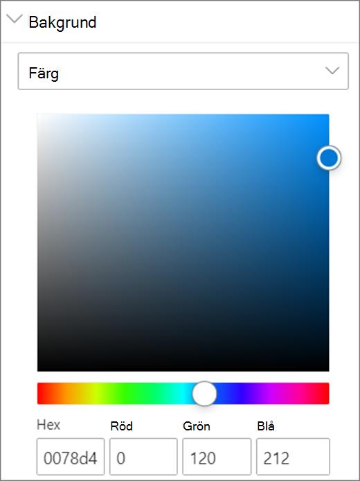 Färgalternativ