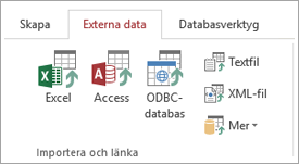 Fliken Externa data i Access