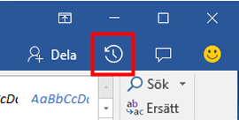 Visa historiska versioner av Office-filer