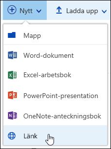 Lägga till en länk i ett dokumentbibliotek