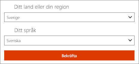 Välj land eller region och språk.
