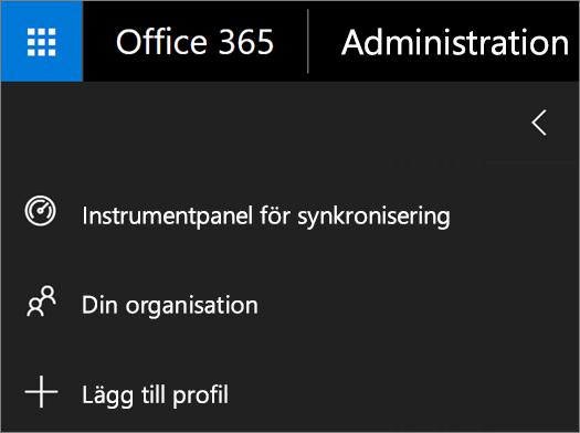 Skärmbild av alternativet Lägg till profil i menyn för School Data Sync.
