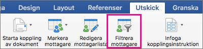 Klicka om du vill filtrera dokumentkopplingslistan