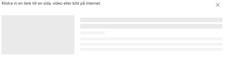 Skärmbild som visar inklistring av länk i SharePoint.