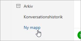 En skärmbild av knappen Ny mapp