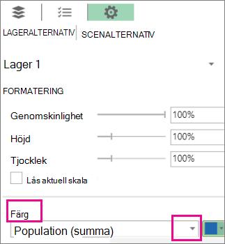 Listrutan Dataserie för färglistrutan