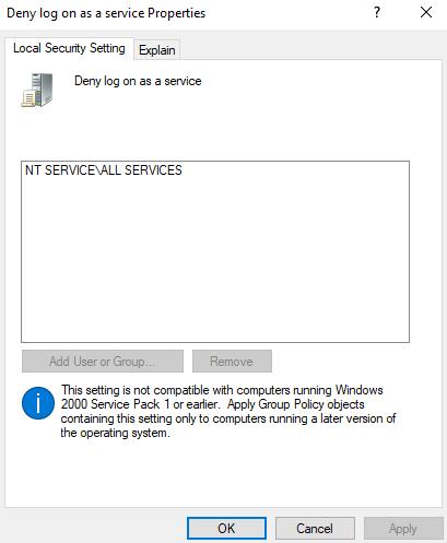 UIFlowService neka logga in som en tjänste princip
