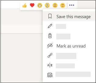 Markera ett meddelande som sparat eller oläst